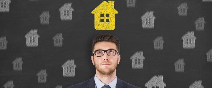A man deciding to buy a house