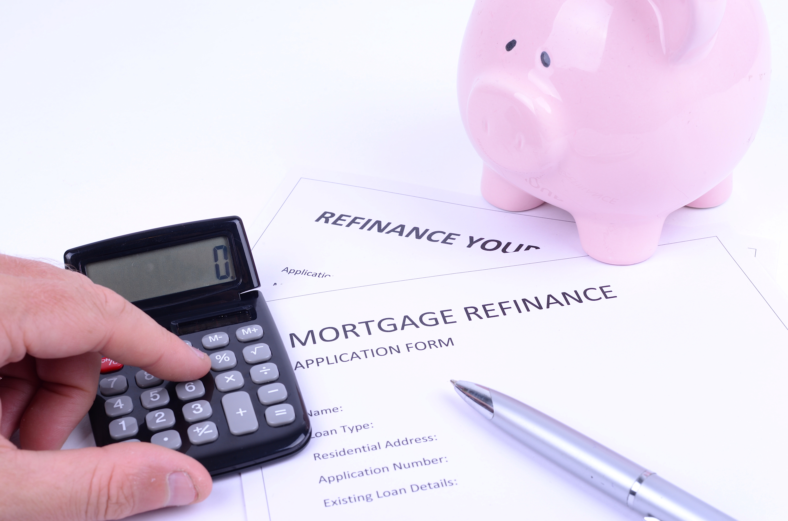 refinancing a house mortgage concept