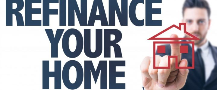 Refinance your home concept shot