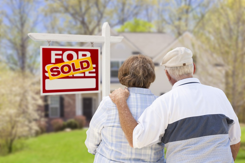 Couple looking at house for sale