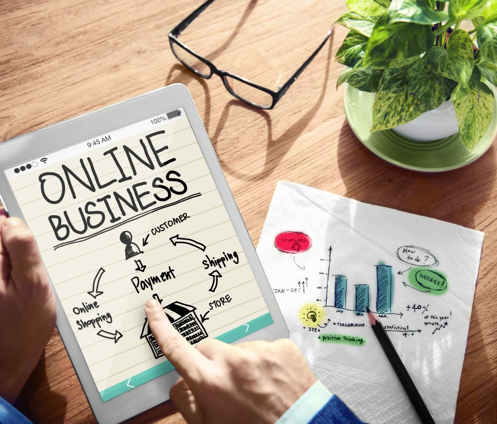 online business process graphic photo