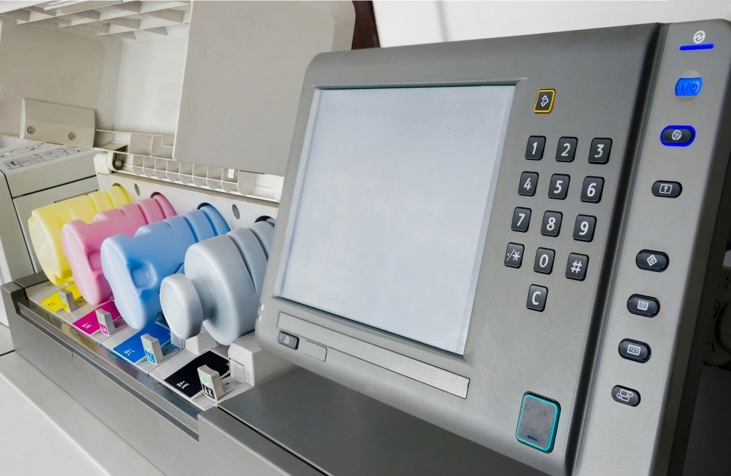 printer loaded with eco-solvent printer ink