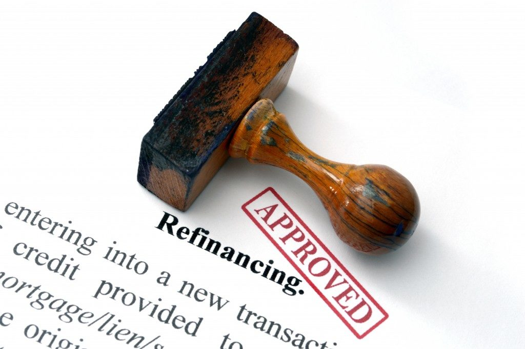 Refinancing document with approved stamp