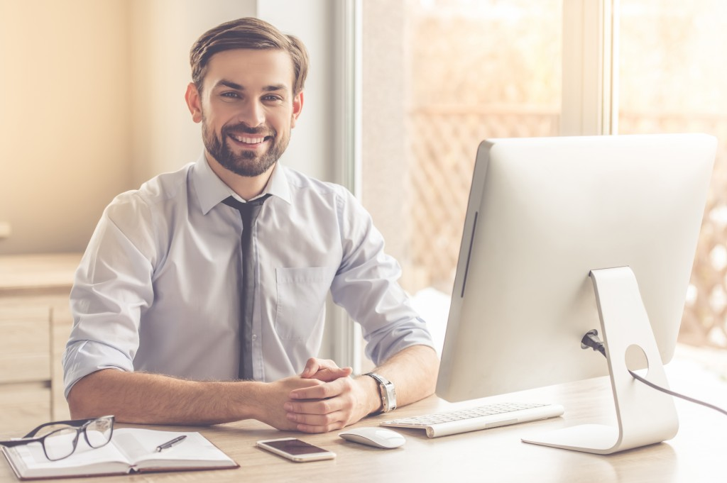 Entrepreneur smiling