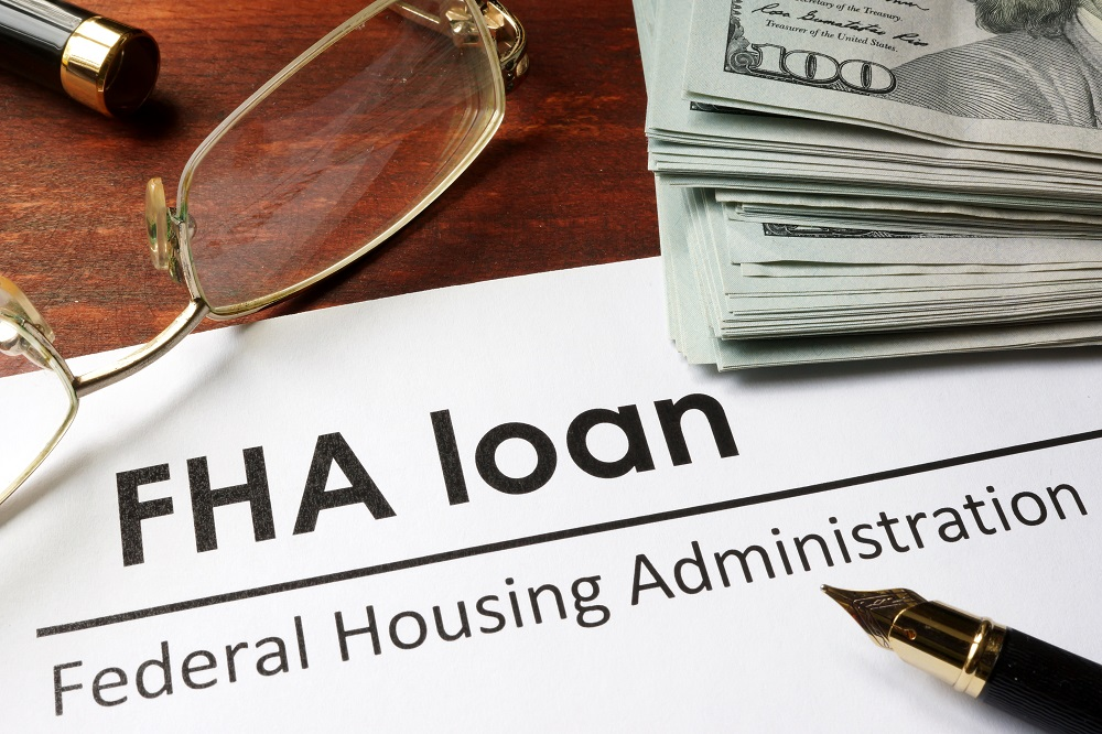 Paper with words fha loan.