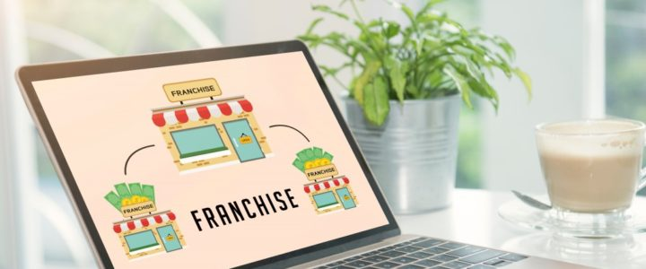 Franchising Concept on Laptop Screen