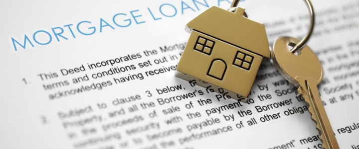 Mortgage loan agreement with home keys