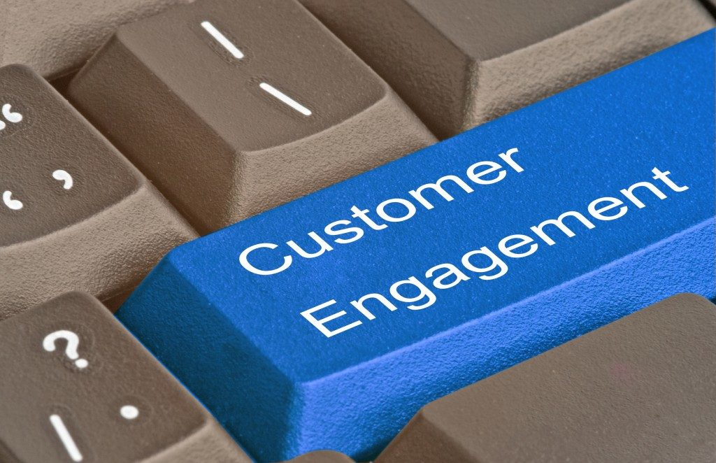 Online customer engagement concept